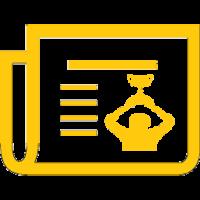 newspaper icon yellow 1